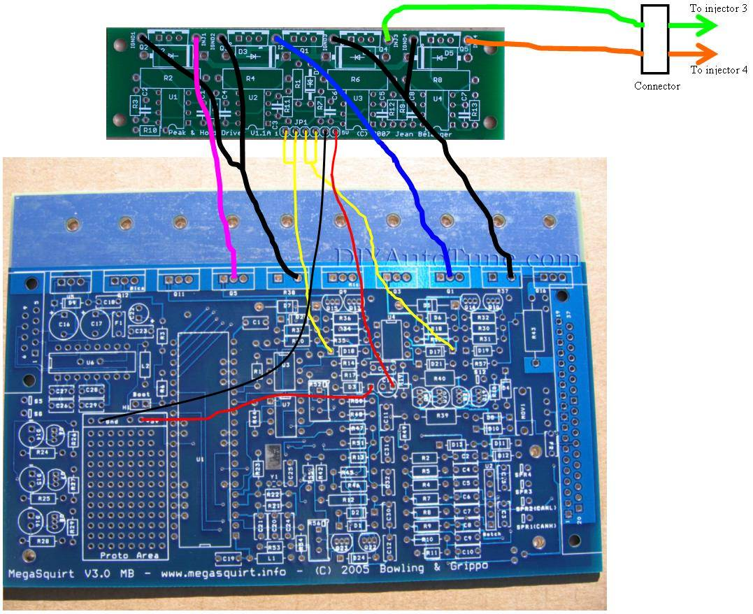 Peak&Hold Injector Driver Board for Megasquirt